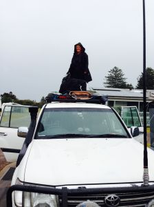 Loading up the roof rack and eagerly awaiting acquistion of a roof bag to simplify this process.