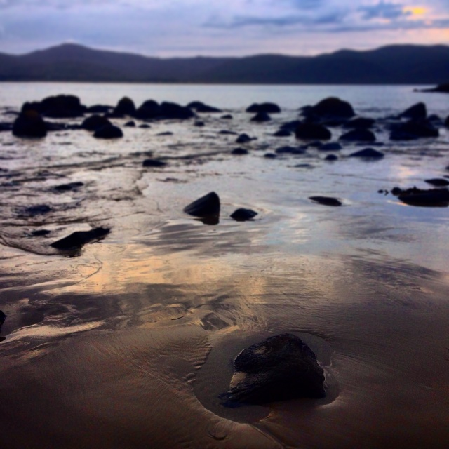 Sunrise at the bottom of Bruny Island, Tasmania